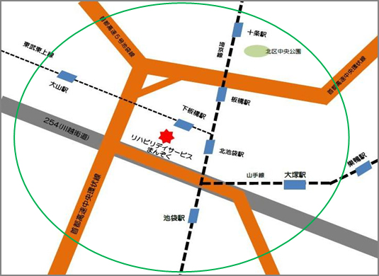 リハデイサービス地図